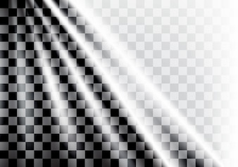 Checkered flag wave and light background.