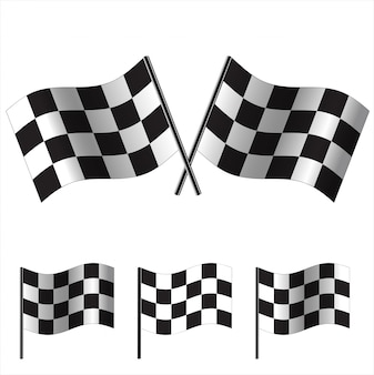Checkered flags  racing