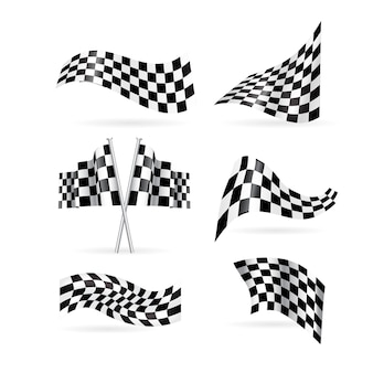 Checkered flags set.