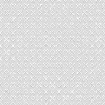 クロスと菱形の市松模様の灰色のシームレスパターン