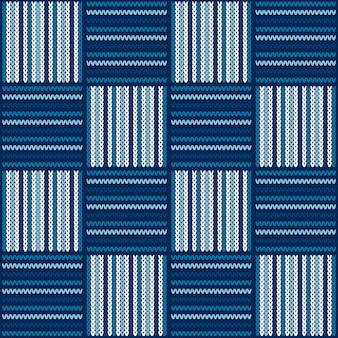 市松模様のニットセーターパターン