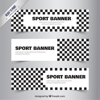 Checkered sport banners
