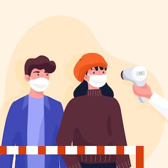 Проверка измерения температуры тела в общественных местах