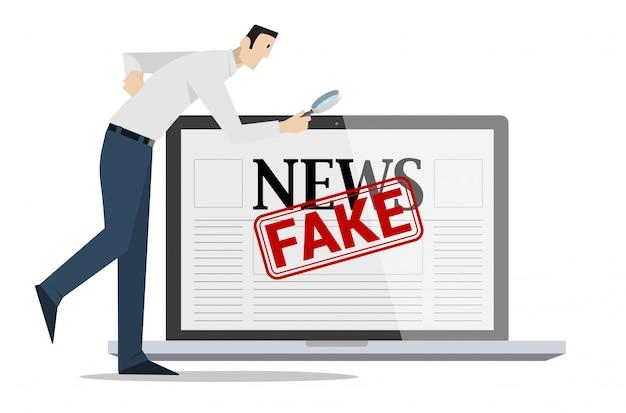 偽のニュースのコンセプトをチェックします。