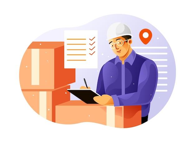 Проверка доставки товара Premium векторы