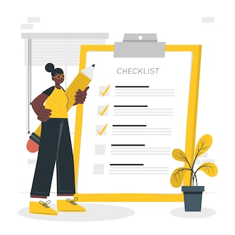 Checklist concept illustration
