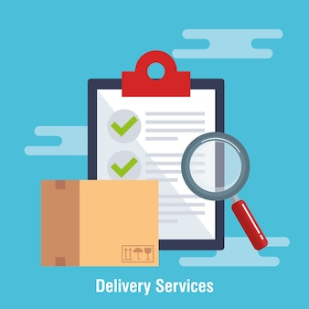 Checklist delivery service icon