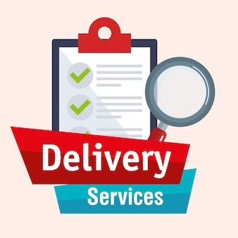 Checklist delivery service icon