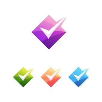 Checklist logo letter correct