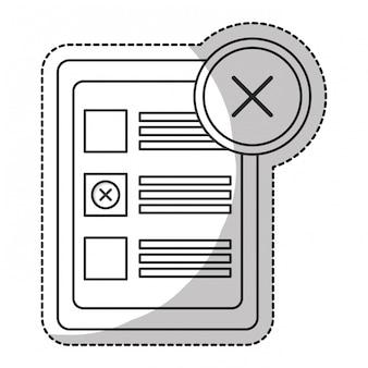 Checklist with crossmark