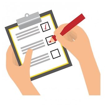 Checklist with square cases icon image