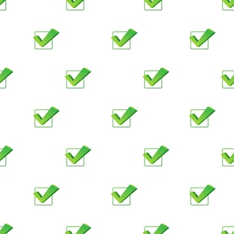 Checkmark. green approved pattern on white background. vector stock illustration.