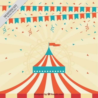 Cheerful background with the tent of a circus