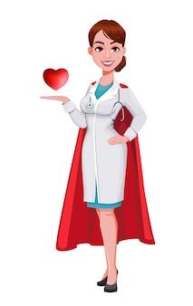 白で隔離の陽気な医者の漫画のキャラクター