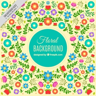 Cheerful floral background