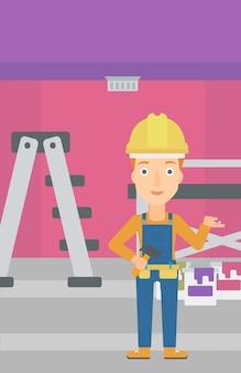 Cheerful repairer engineer.