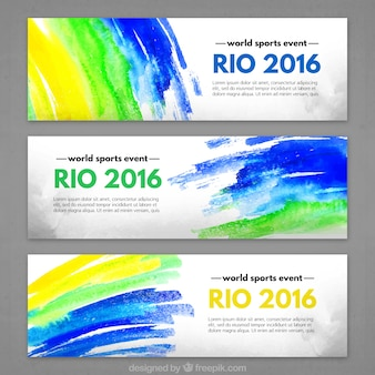 Cheerful rio 2016 banners