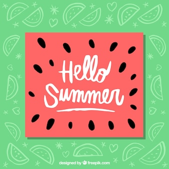 Cheerful watermelon summer card