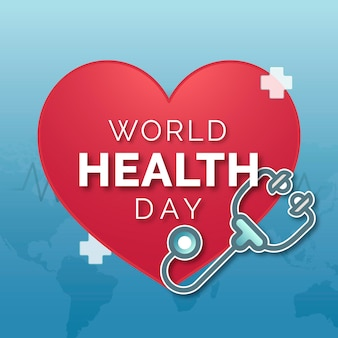 陽気な世界保健デーの意識