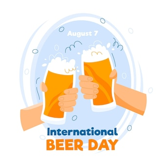 Cheering international beer day event