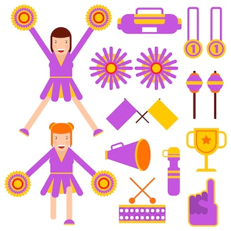 Cheerleading elements and cheerleader girls accessories