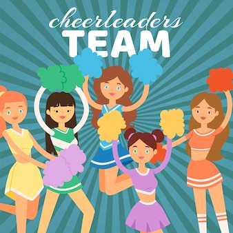 Cheerleading team illustration