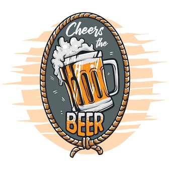 Cheers the beer  illustration