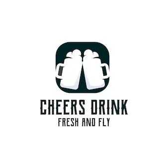 Cheers drink logo illustration