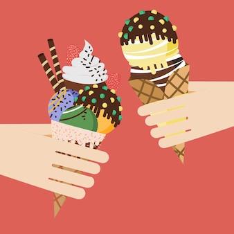 Cheers the ice cream