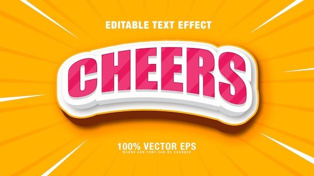 Cheers effetto di testo