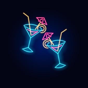 乾杯ネオンカクテルファッション看板常夜灯看板が光る
