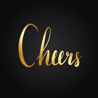 Cheers typography wording style vector