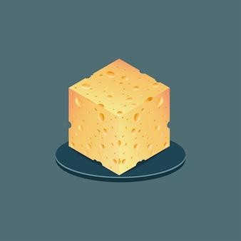 치즈 배경 현실적인 치즈의 원활한 벡터 텍스처
