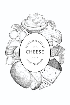 Cheese design template.