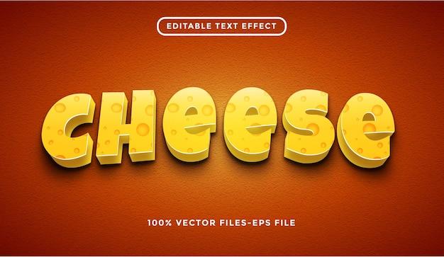 치즈 편집 가능한 텍스트 효과 프리미엄 벡터