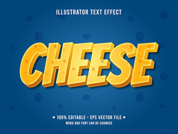 치즈 편집 가능한 텍스트 효과