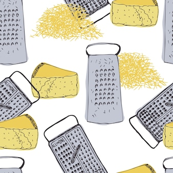 Cheese and grater vintage background