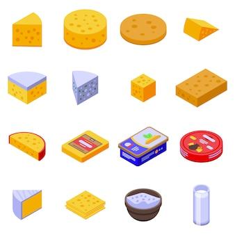 チーズのアイコンセット、アイソメ図スタイル