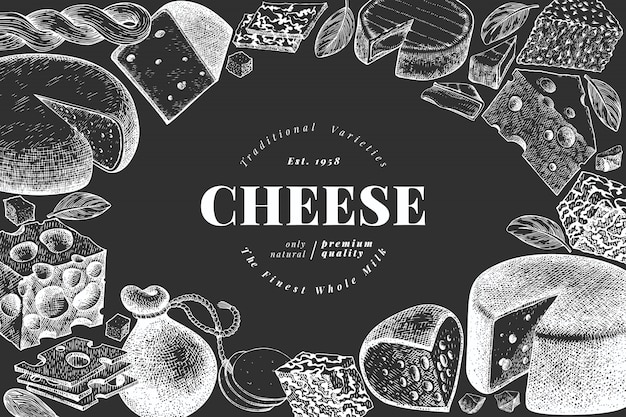 Cheese illustration template
