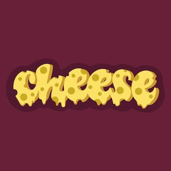 Cheese lettering design