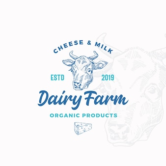 Cheese and milk dairy farm