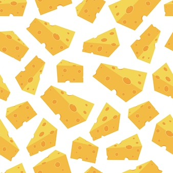 Cheese pieces vector seamless pattern seamless pattern for wallpaper