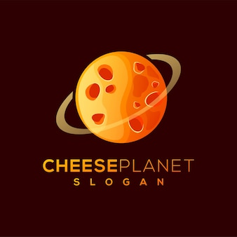 Cheese planet logo design