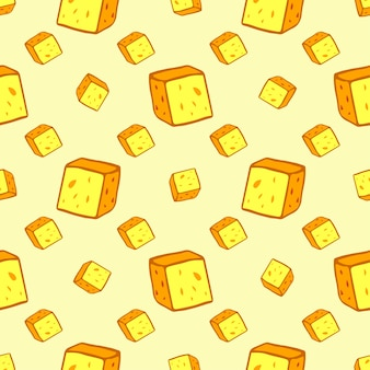 Сыр бесшовные модели со многими ломтиками. векторные продовольствия фон.