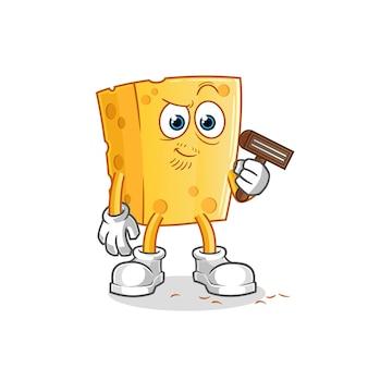 チーズは顔の毛を剃ります。漫画のキャラクター
