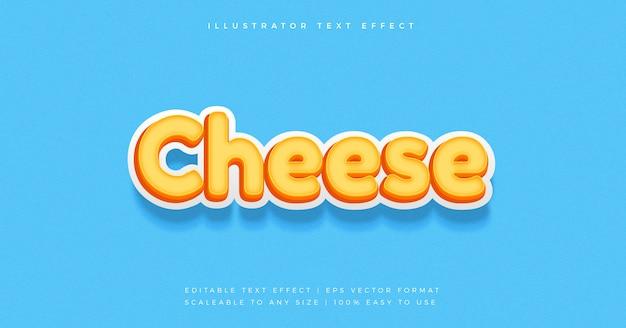 치즈 스낵 텍스트 스타일 글꼴 효과