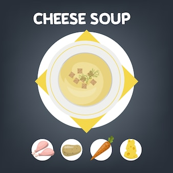 Cheese soup recipe for cooking at home