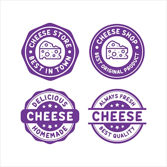チーズスタンプデザインロゴコレクション