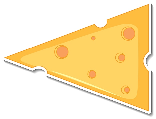 Adesivo di formaggio su sfondo bianco
