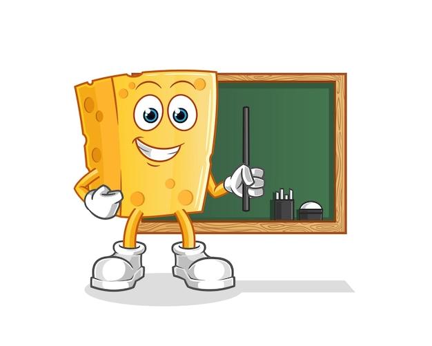 Cheese teacher. cartoon character